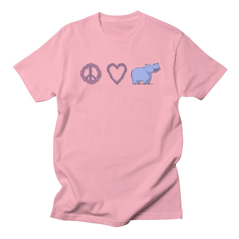 Peace, Love & Hipponess Men's Regular T-Shirt by jordan's Artist Shop