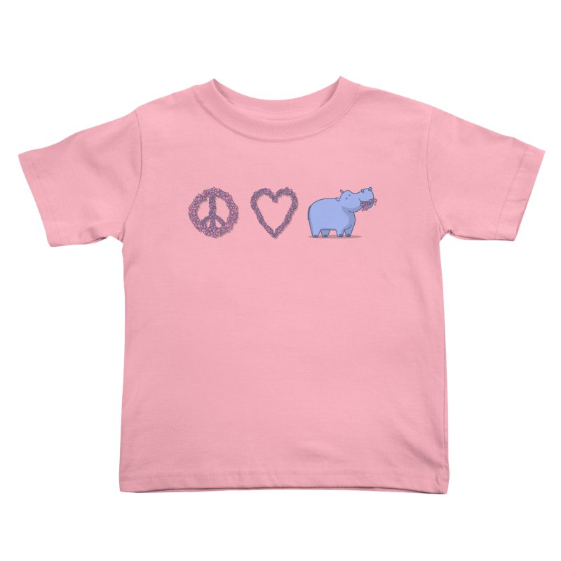 Peace, Love & Hipponess Kids Toddler T-Shirt by jordan's Artist Shop