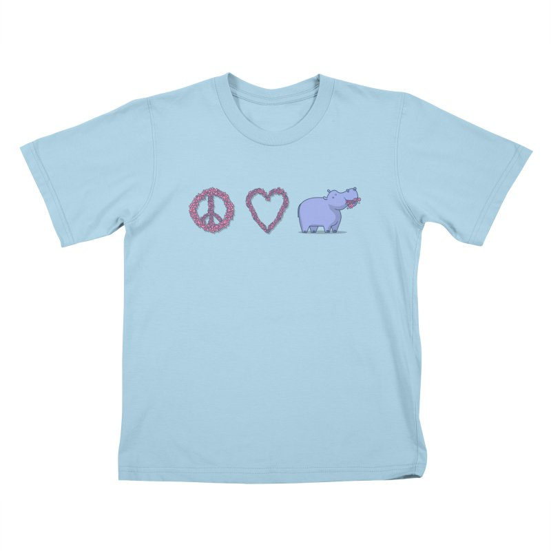 Peace, Love & Hipponess Kids T-Shirt by jordan's Artist Shop