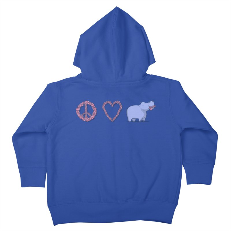 Peace, Love & Hipponess Kids Toddler Zip-Up Hoody by jordan's Artist Shop