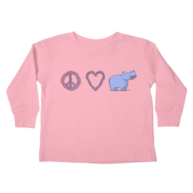 Peace, Love & Hipponess Kids Toddler Longsleeve T-Shirt by jordan's Artist Shop