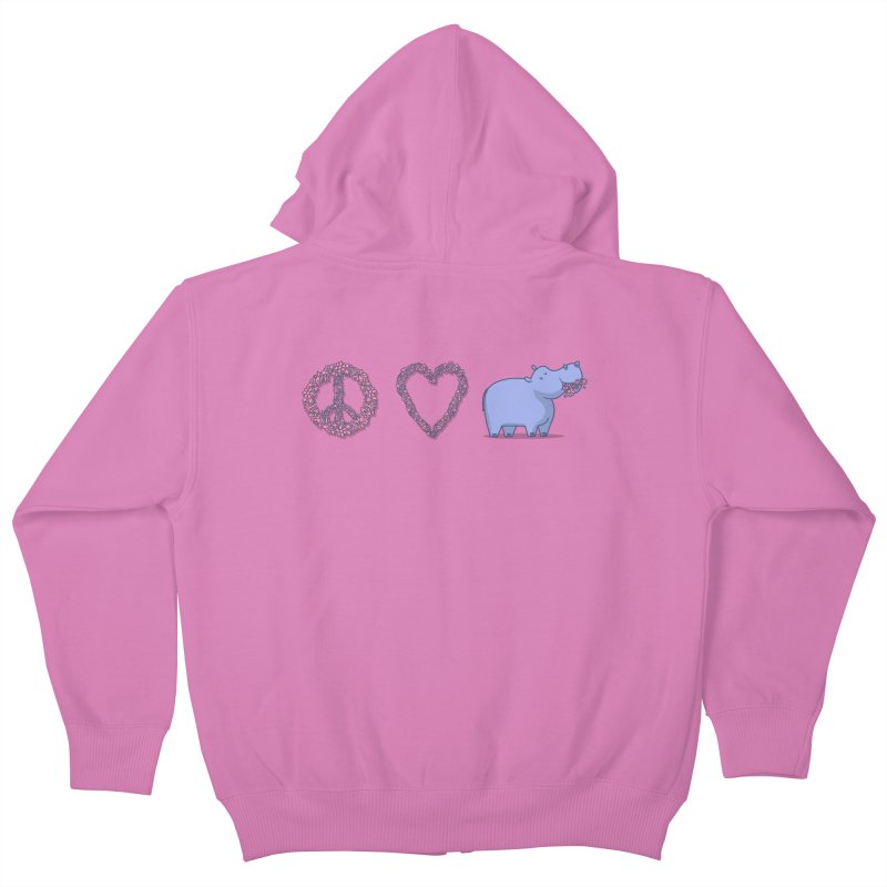 Peace, Love & Hipponess Kids Zip-Up Hoody by jordan's Artist Shop