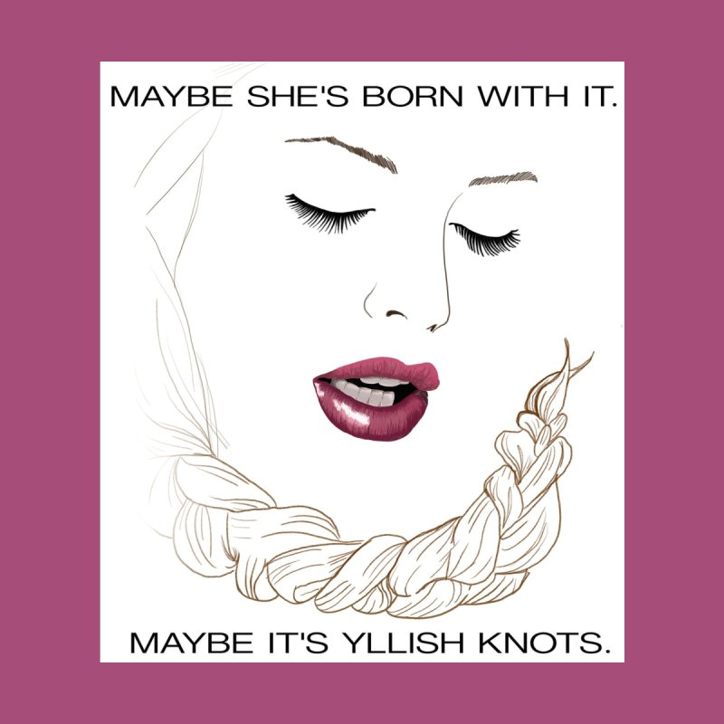 Yllish Knots Home Mounted Acrylic Print by JordanaHeney Illustration