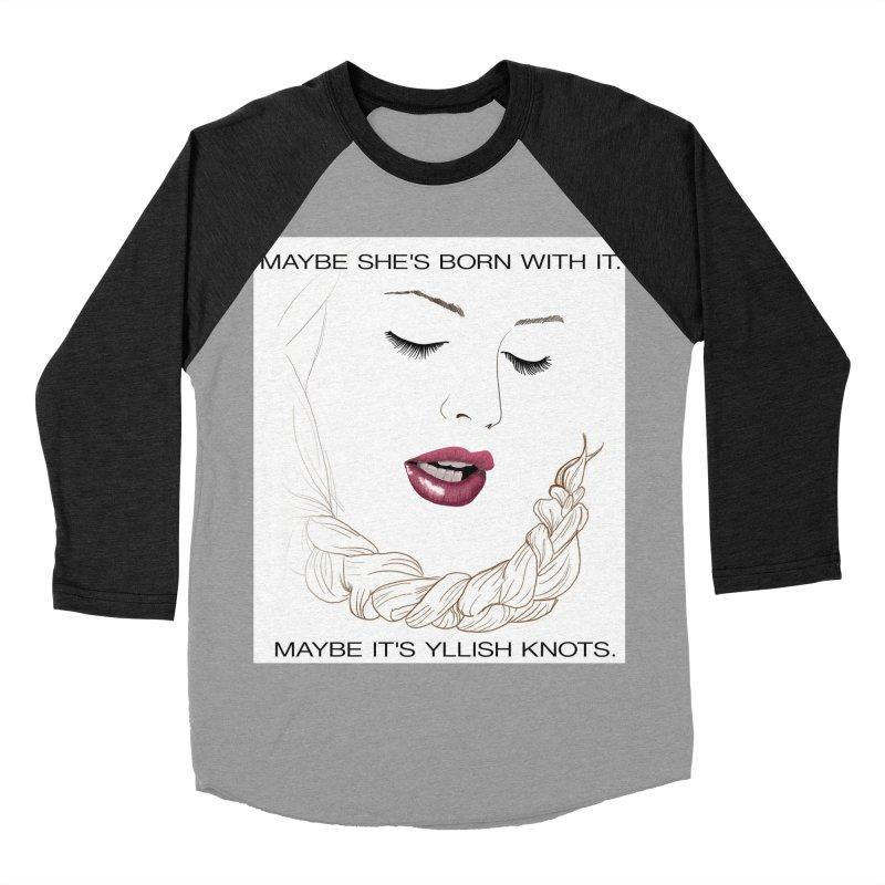Yllish Knots Women's Baseball Triblend Longsleeve T-Shirt by JordanaHeney Illustration