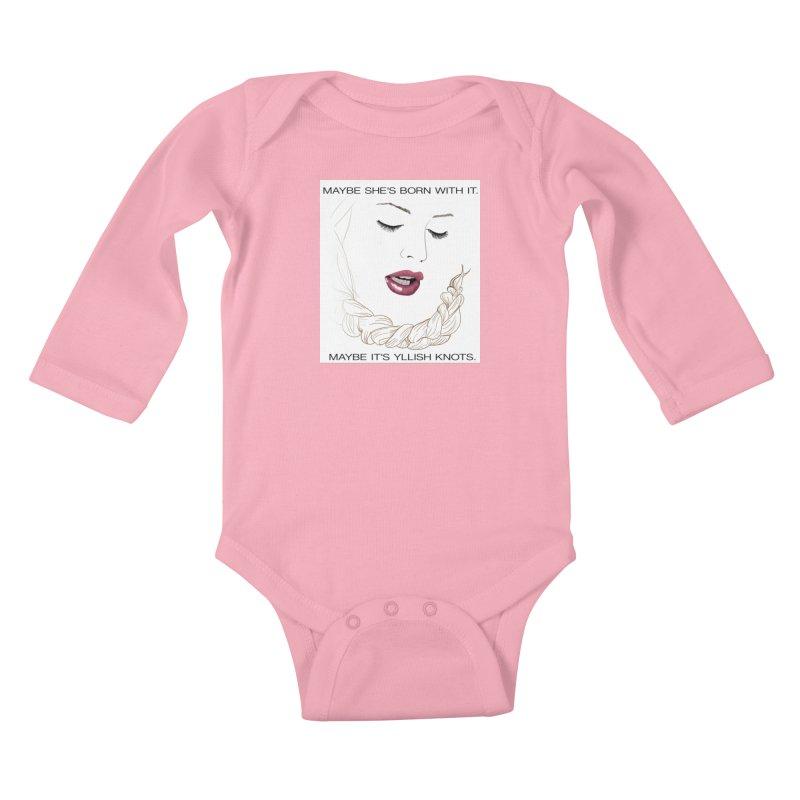 Yllish Knots Kids Baby Longsleeve Bodysuit by JordanaHeney Illustration