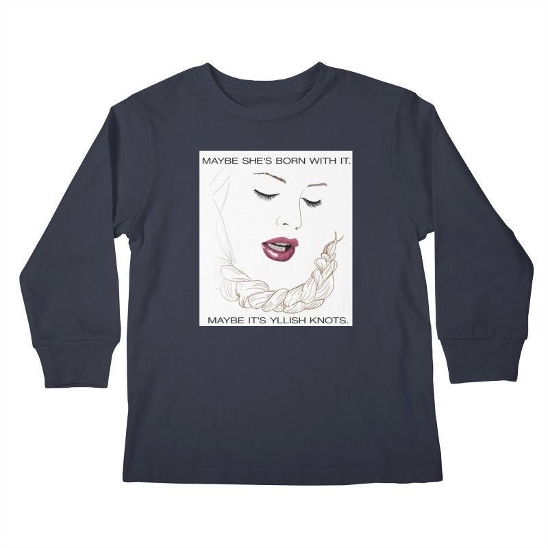 Yllish Knots Kids Longsleeve T-Shirt by JordanaHeney Illustration