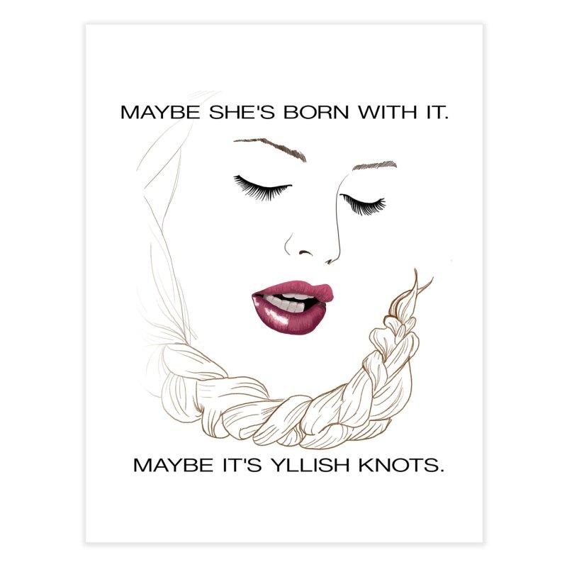 Yllish Knots Home Fine Art Print by JordanaHeney Illustration