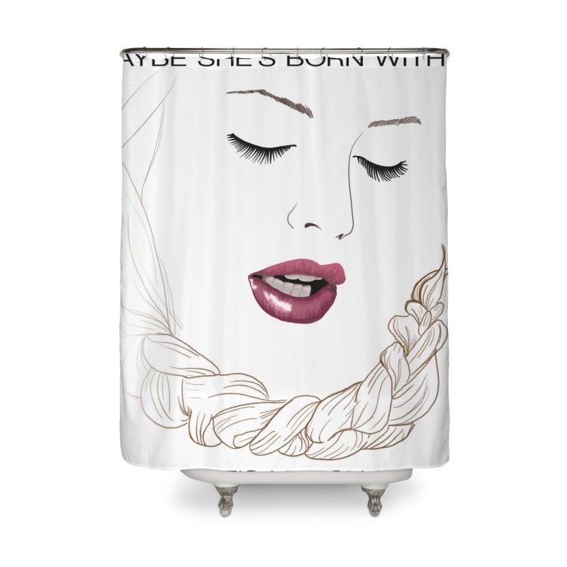Yllish Knots Home Shower Curtain by JordanaHeney Illustration