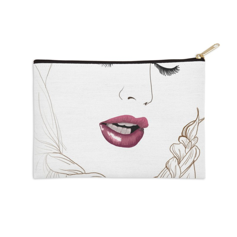 Yllish Knots Accessories Zip Pouch by JordanaHeney Illustration