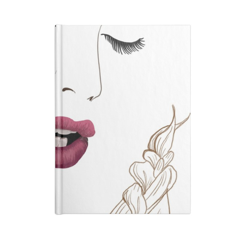 Yllish Knots Accessories Lined Journal Notebook by JordanaHeney Illustration