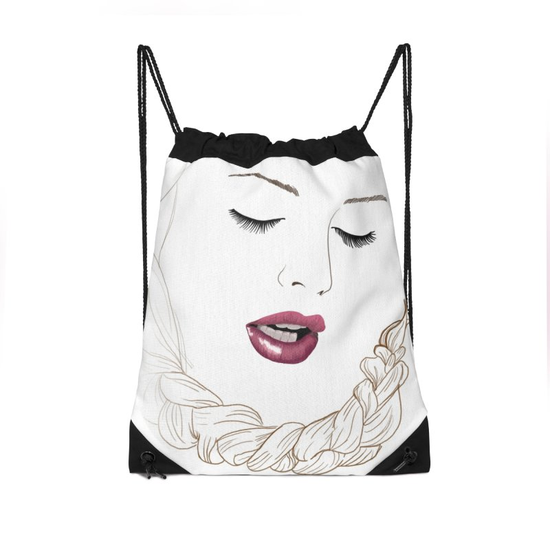 Yllish Knots Accessories Drawstring Bag Bag by JordanaHeney Illustration