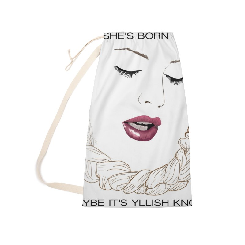 Yllish Knots Accessories Laundry Bag Bag by JordanaHeney Illustration