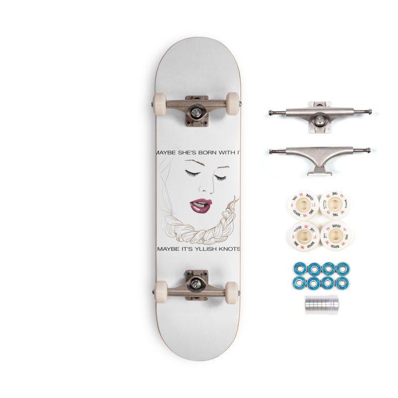 Yllish Knots Accessories Complete - Premium Skateboard by JordanaHeney Illustration