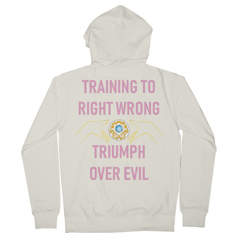 Moon Power Work-out Women's French Terry Zip-Up Hoody by JordanaHeney Illustration