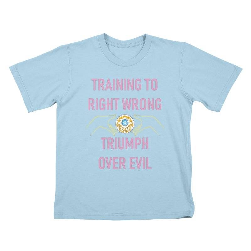 Moon Power Work-out Kids T-Shirt by JordanaHeney Illustration