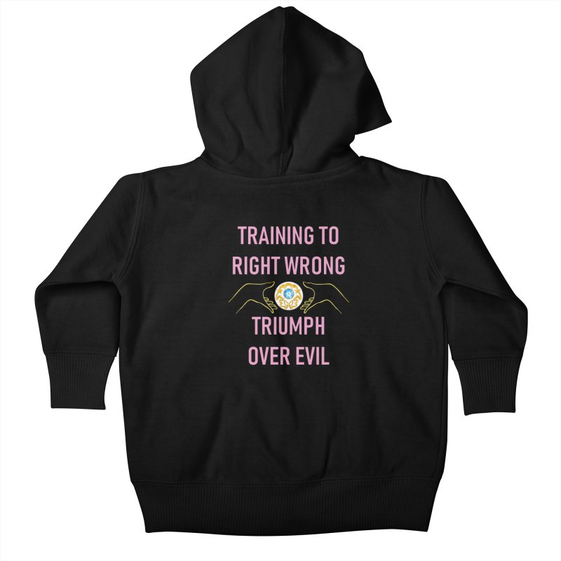 Moon Power Work-out Kids Baby Zip-Up Hoody by JordanaHeney Illustration