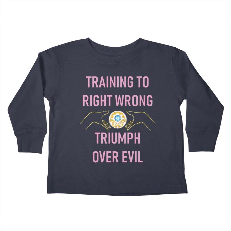 Moon Power Work-out Kids Toddler Longsleeve T-Shirt by JordanaHeney Illustration