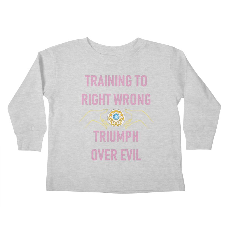 Moon Power Work-out Kids Toddler Longsleeve T-Shirt by JordanaHeney Illustration