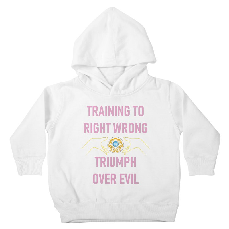 Moon Power Work-out Kids Toddler Pullover Hoody by JordanaHeney Illustration