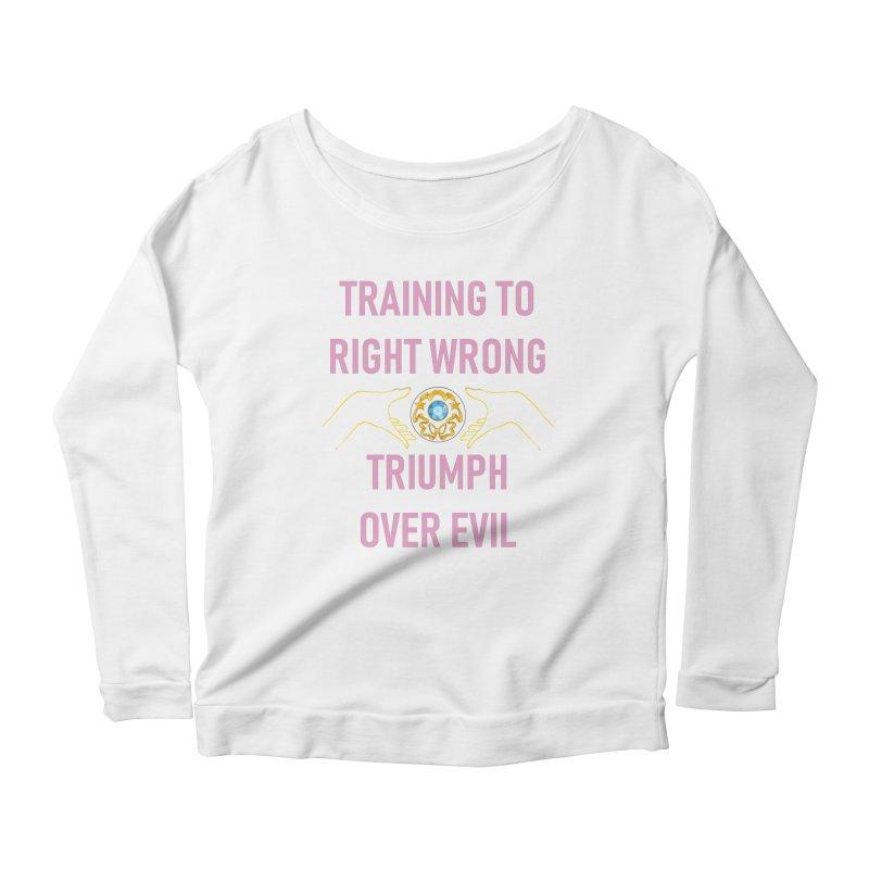 Moon Power Work-out Women's Scoop Neck Longsleeve T-Shirt by JordanaHeney Illustration