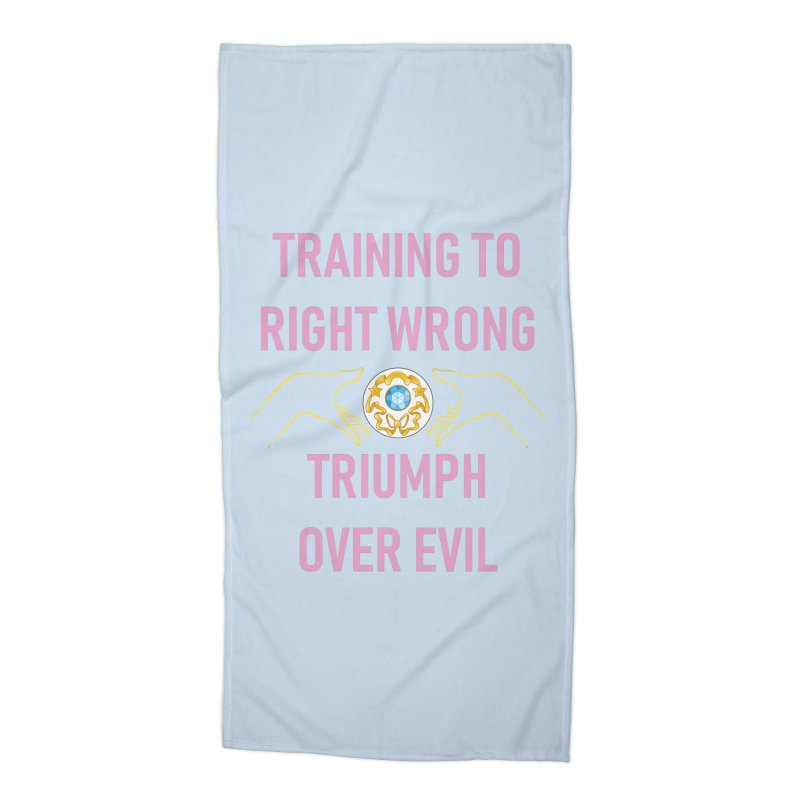 Moon Power Work-out Accessories Beach Towel by JordanaHeney Illustration