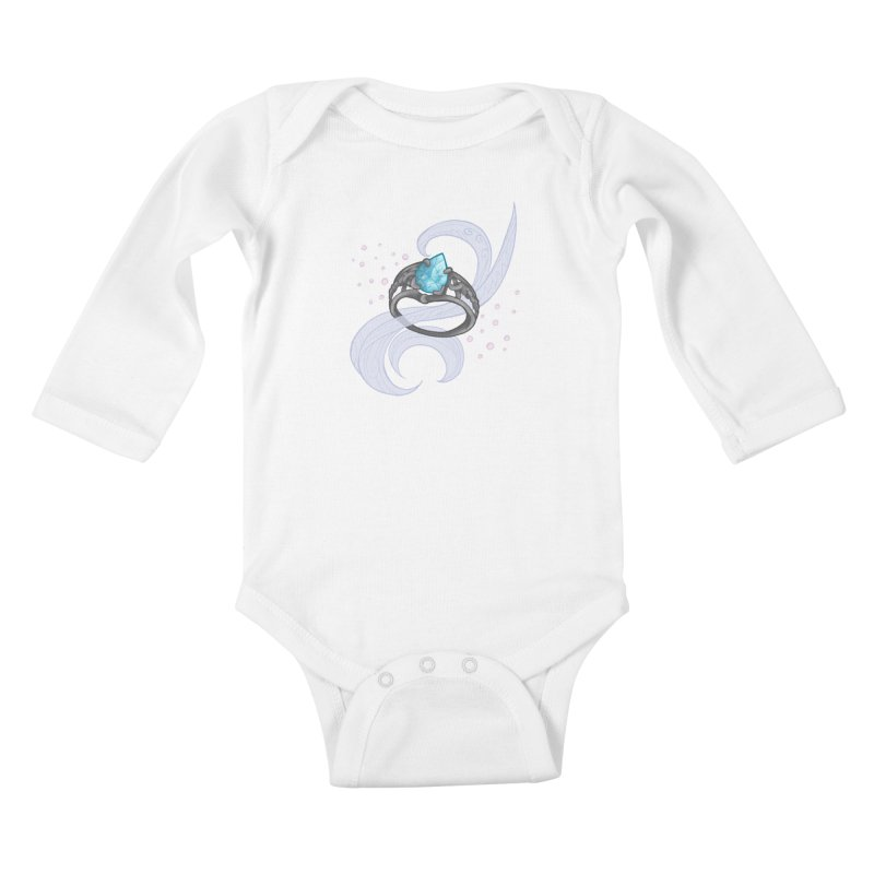 Denna's Ring Kids Baby Longsleeve Bodysuit by JordanaHeney Illustration