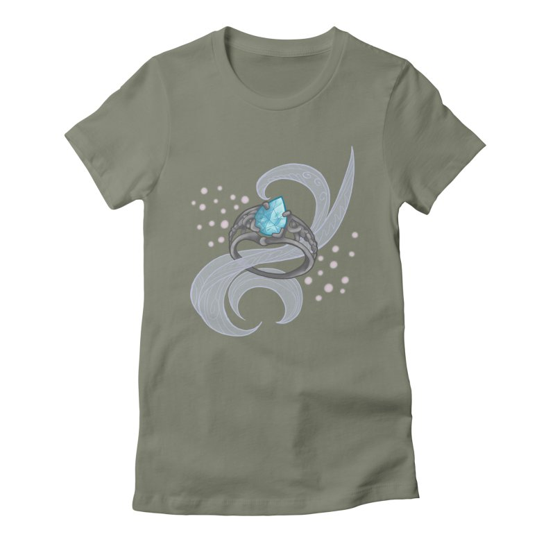 Denna's Ring Women's Fitted T-Shirt by JordanaHeney Illustration