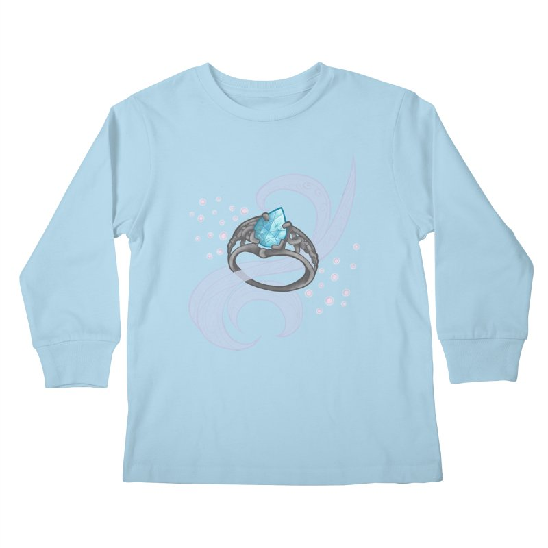 Denna's Ring Kids Longsleeve T-Shirt by JordanaHeney Illustration