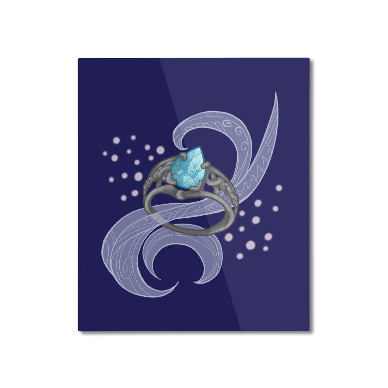 Denna's Ring Home Mounted Aluminum Print by JordanaHeney Illustration