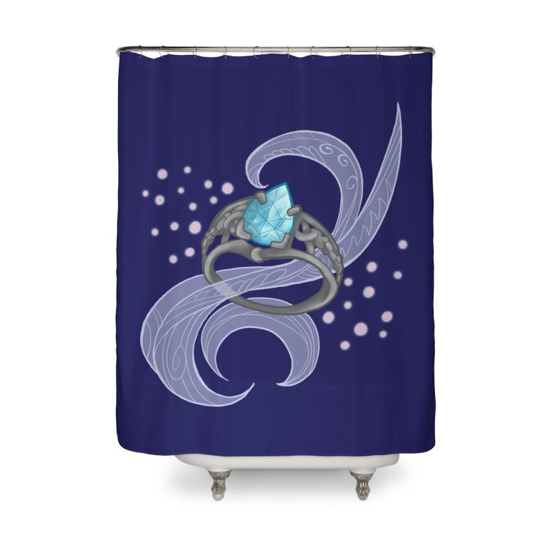 Denna's Ring Home Shower Curtain by JordanaHeney Illustration