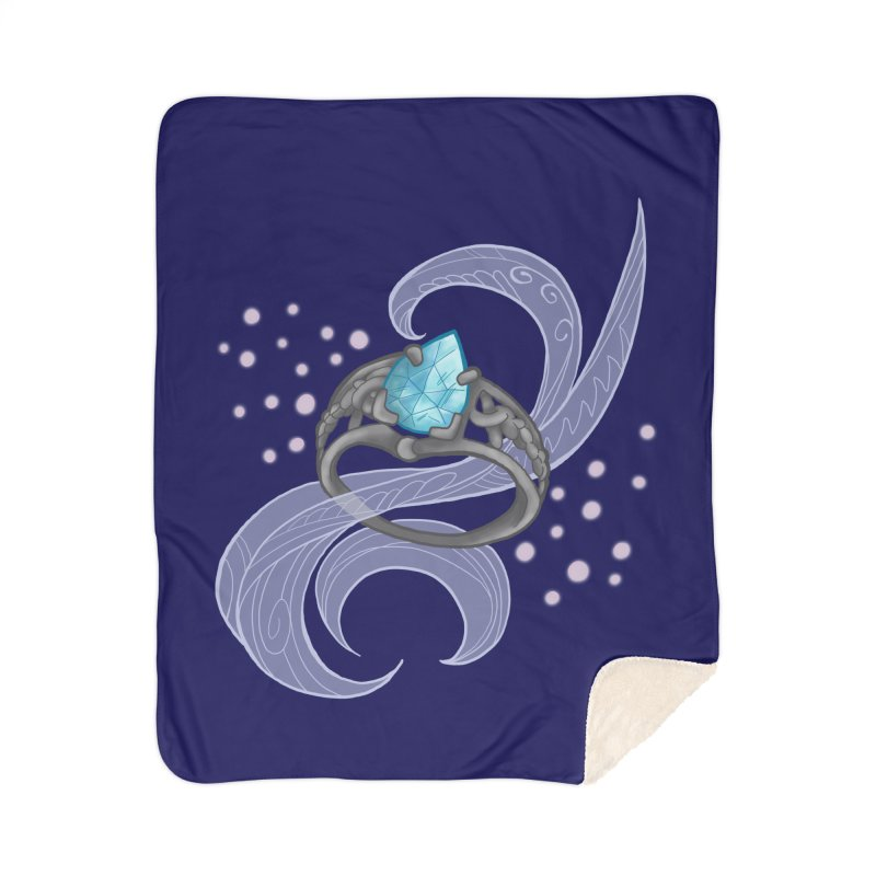Denna's Ring Home Sherpa Blanket Blanket by JordanaHeney Illustration