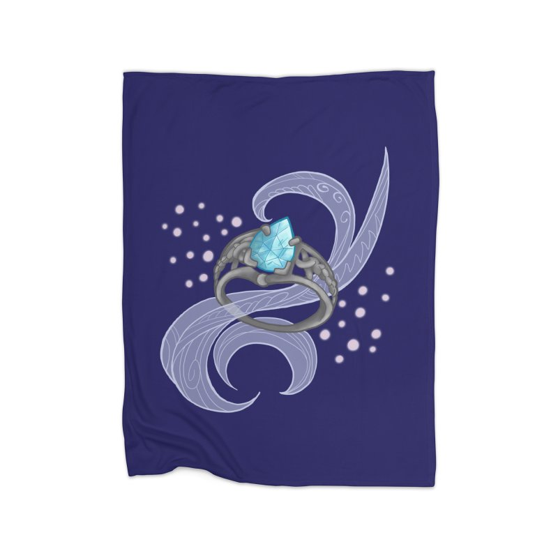 Denna's Ring Home Fleece Blanket Blanket by JordanaHeney Illustration