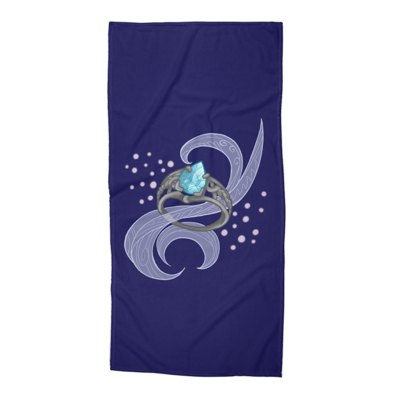 Denna's Ring Accessories Beach Towel by JordanaHeney Illustration