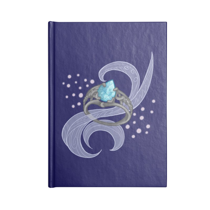 Denna's Ring Accessories Lined Journal Notebook by JordanaHeney Illustration