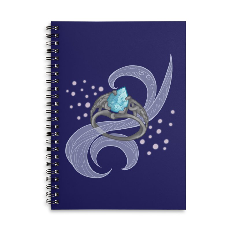 Denna's Ring Accessories Lined Spiral Notebook by JordanaHeney Illustration