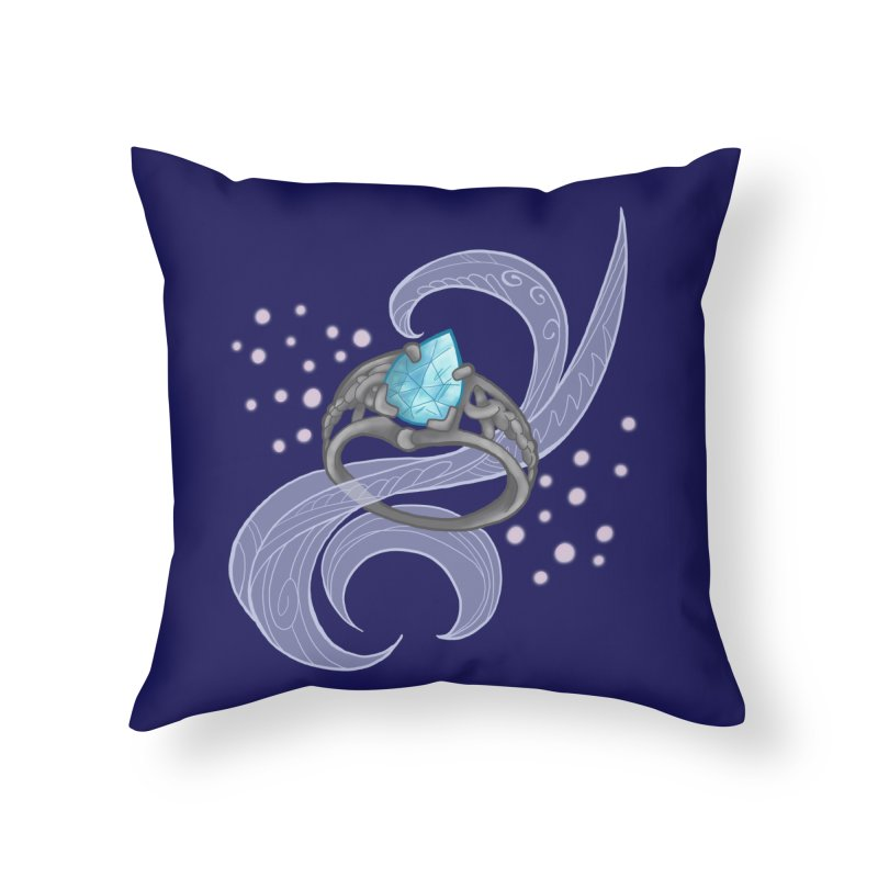 Denna's Ring Home Throw Pillow by JordanaHeney Illustration