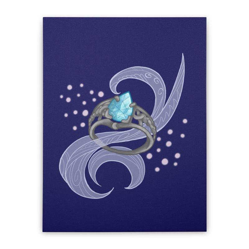 Denna's Ring Home Stretched Canvas by JordanaHeney Illustration
