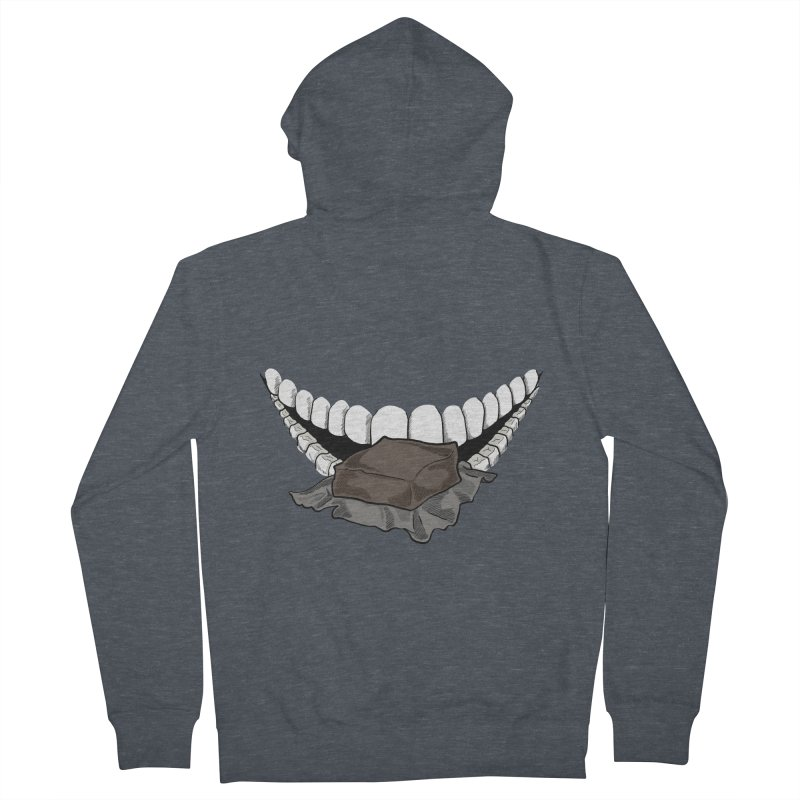 Sweet Eater Men's French Terry Zip-Up Hoody by JordanaHeney Illustration