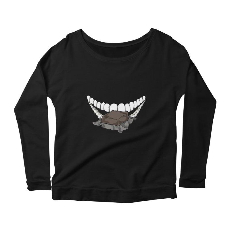 Sweet Eater Women's Scoop Neck Longsleeve T-Shirt by JordanaHeney Illustration