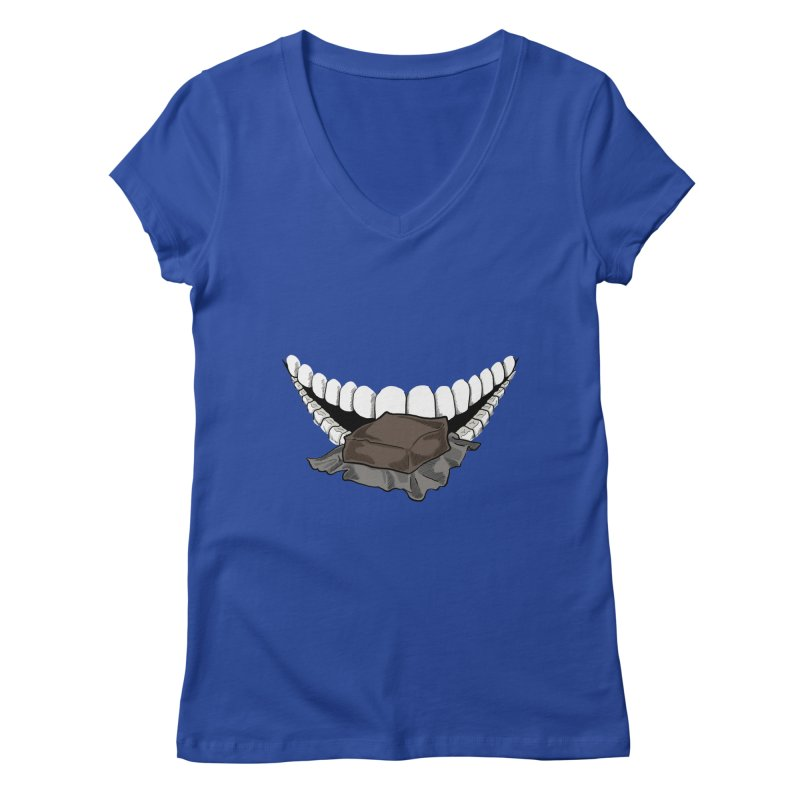 Sweet Eater Women's Regular V-Neck by JordanaHeney Illustration
