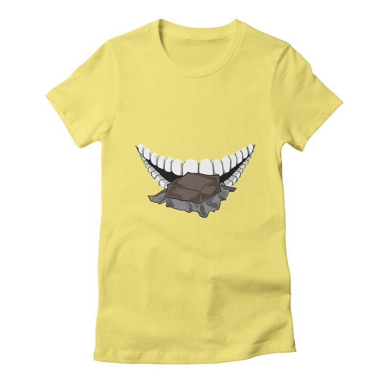 Sweet Eater Women's Fitted T-Shirt by JordanaHeney Illustration