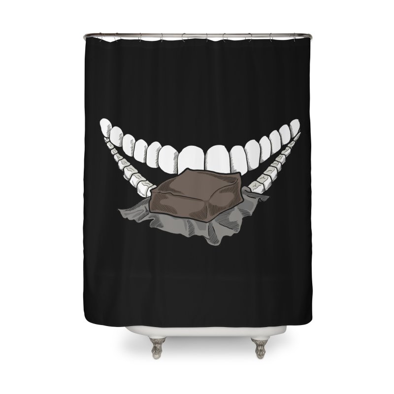 Sweet Eater Home Shower Curtain by JordanaHeney Illustration