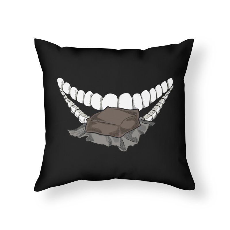 Sweet Eater Home Throw Pillow by JordanaHeney Illustration