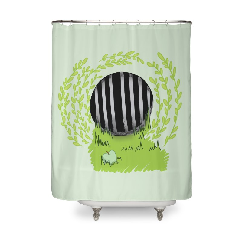 The Gate Home Shower Curtain by JordanaHeney Illustration