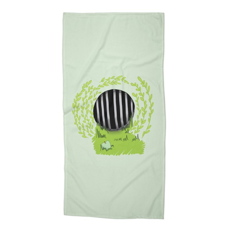 The Gate Accessories Beach Towel by JordanaHeney Illustration