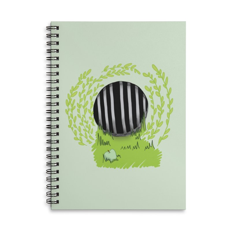 The Gate Accessories Lined Spiral Notebook by JordanaHeney Illustration