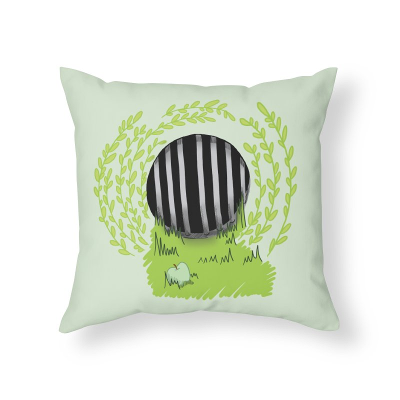The Gate Home Throw Pillow by JordanaHeney Illustration