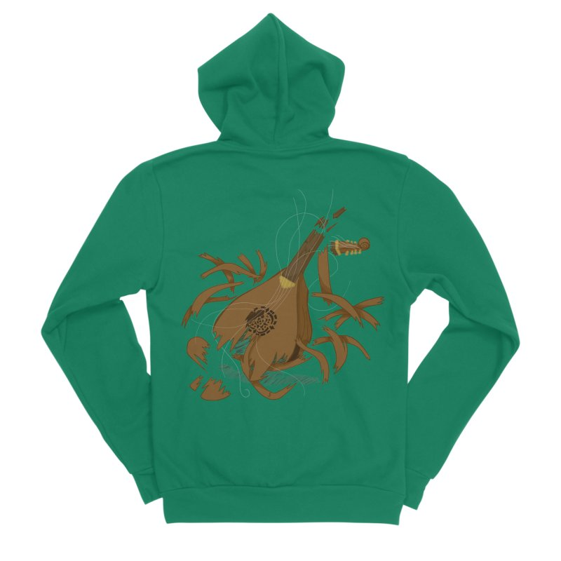 DeLuted Women's Sponge Fleece Zip-Up Hoody by JordanaHeney Illustration