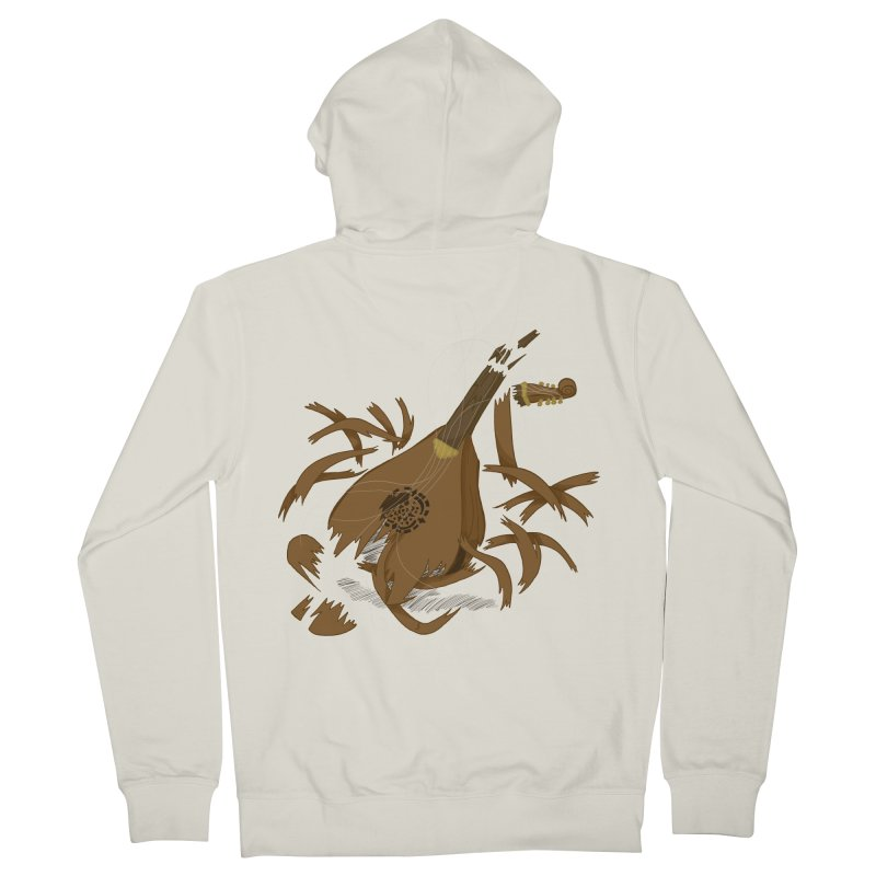 DeLuted Women's French Terry Zip-Up Hoody by JordanaHeney Illustration