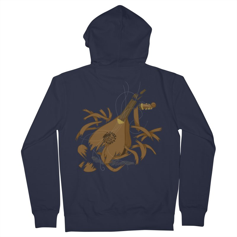 DeLuted Men's French Terry Zip-Up Hoody by JordanaHeney Illustration